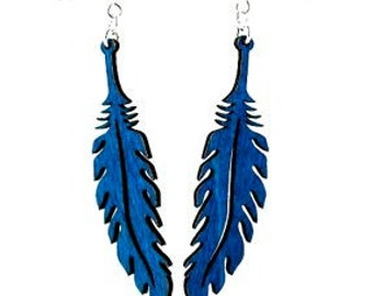 Wooden Feather Earrings - Laser Cut from Reforested Trees