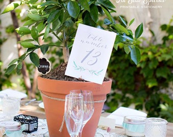 5x7 Reception Table Numbers - Printable - Flat Cards