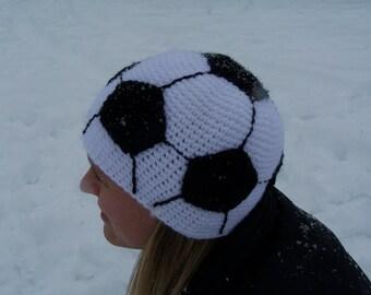 Women's crochet soccer hat//22 inches//child//teenager