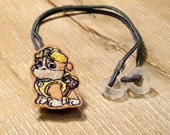 Construction Dog - Hearing Aid Cord or Cochlear Implant Cord