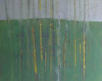 Original abstract tree painting - Saplings one