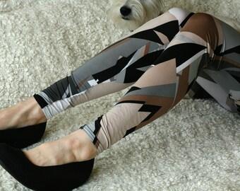 CLEARANCE SALE Neutral color geometry ornaments  leggings