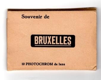 Vintage Brussels Belgium Souvenir Foldout Pictures