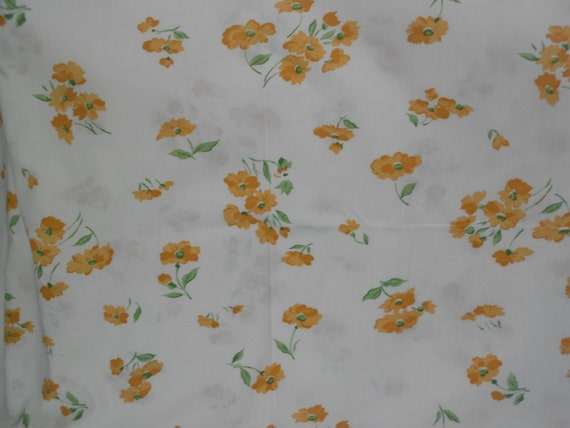 Creamy White with Golden Asian Print Flowers - Japanese Cotton - Ready to Ship
