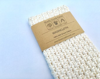 Washcloth - all natural wash cloth, cotton wash cloth, crochet washcloth, gift for women, stocking stuffer gift for her ecofriendly