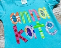 Scribble Font Applique for Machine Embroidery and Applique Vintage Stitch