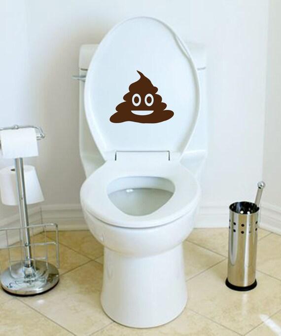 Poop toilet decal bathroom kids d cor toilet training decal for 9x8 bathroom designs