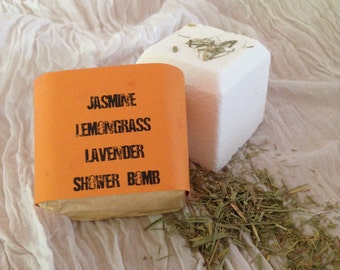 Jasmine  Lemongrass Lavender Shower Bomb - Aromatherapy - Spa Treatment