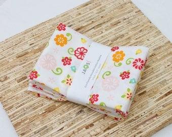 Large Cloth Napkins - Set of 4 - (N2424) - Simply Sweet Flower Modern Reusable Fabric Napkins