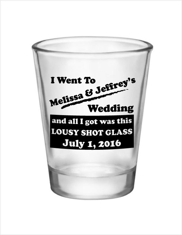 72 wedding favor personalized shot glasses custom