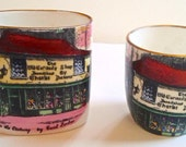 Take 20% 0ff TWO Dicken's Old Curiosity Shop Toothpick Holders Souvenirs