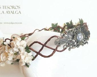 Floral crown - wedding crown - floral headpiece - bridal tiara