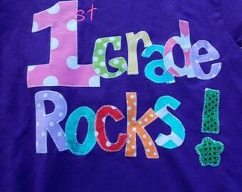 Pre-K Rocks  to 5th grade Rocks T Shirt for Children Back to School - great teacher gifts.School Rocks shirt