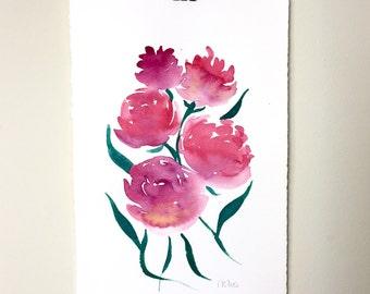 Bouquet. An original floral watercolor painting.