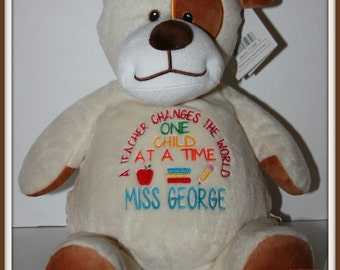 Teacher, Teachers Change the World - a personalized unique gift for your favorite Teacher, stuffed animal