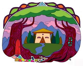 Mountain Temple print