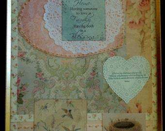 Valentine Botanical Collage