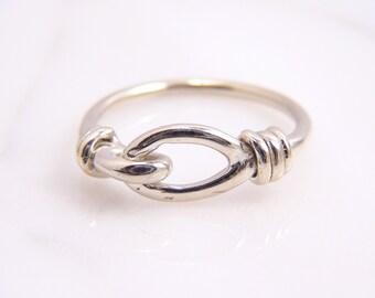 Unique 14k White Gold Knot Ring Medium- A BG&J Exclusive