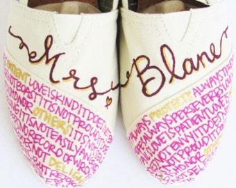 The Blane -Purple Plum and Gold Custom Wedding TOMS
