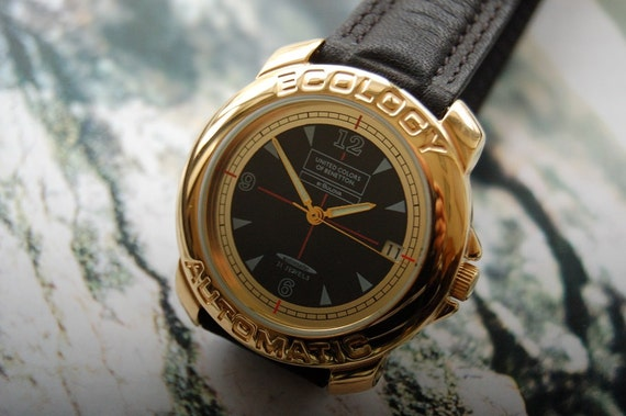 Items similar to united colors of benetton by bulova ecology automatic watch n o s free shipping for Benetton watches