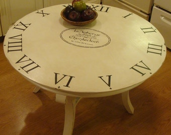 Round French Inspired Coffee Table