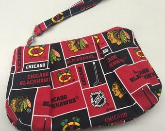 Chicago Blackhawks Double Pleated Wristlet
