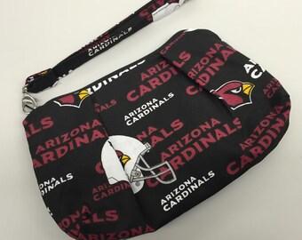 Arizona Cardinals Double Pleated Wristlet