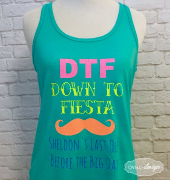 Custom Bridal Party Tank Top Flowy Racerback Tank Printed in Bright Neon Colors and Glitter