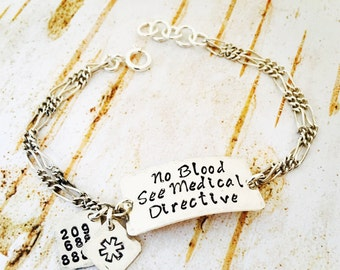 Design Your Own Sterling Silver custom bracelet. All Sizes available. Stamped with a name, date, medical condition, scripture etc...