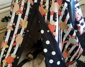 Carseat Canopy Black Coral Mint Gold Floral car seat canopy / car seat cover / carseat canopy / carseat cover / nursing cover / infant