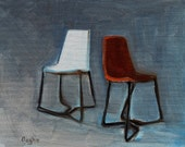 Original Oil Painting - Chairs - Oil on Canvas - Still Life - Modern - Contemporary - Small Painting - Home Decor - Original Art - 8 x 10
