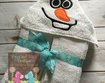 Olaf Hooded Towel (Ready to Ship)