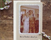 Get Well Hillbilly Card - greeting card - redneck card - old photo card - family photo card - funny card - surgery card