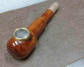 Metal-Wood Smoking Pipe