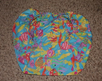 Fish Pack and Play Fitted Sheet