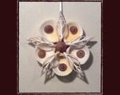 "RESERVED-RK Sea Shell Keepsake Ornament Accent #85 (Size 5.5""), Beach/Nautical/Coastal Decor, Keepsake Ornament/Wall Accent"