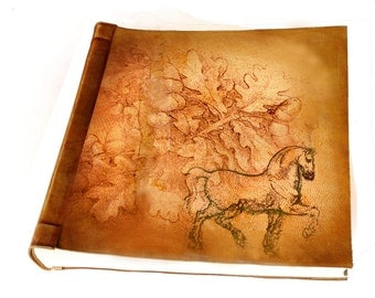 Oak tree horse leather Photoalbum