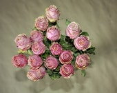 15 Dried Roses - VINTAGE LOOKING - Natural Color - Roses for Weddings, Luck-Love-Romance and all other Matters of the Heart - Flower Bouquet