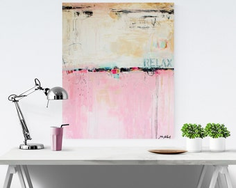 rosa creme original painting abstract painting  from jolina anthony