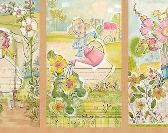 Garden Girls, The Garden Panel, Blend Fabrics, Cori Dantini