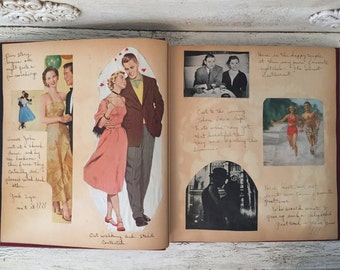 Vintage 1950s Brides Book - Retro Bridal Scrapbook for the Bride to Be - Great Cut Outs!