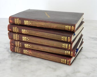 Set of Robert Browning Books / Leather / Antique Collection