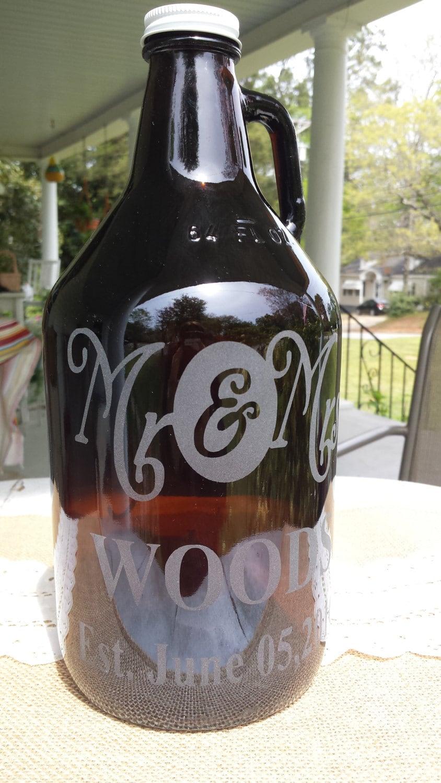 engraved beer growler custom beer growler personalized name