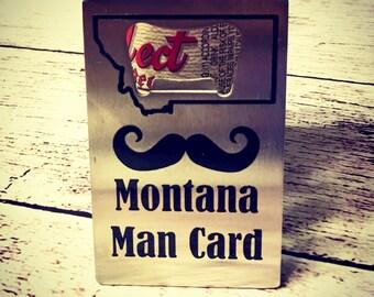 Bottle Opener Man Card Montana Credit Card Beer opener