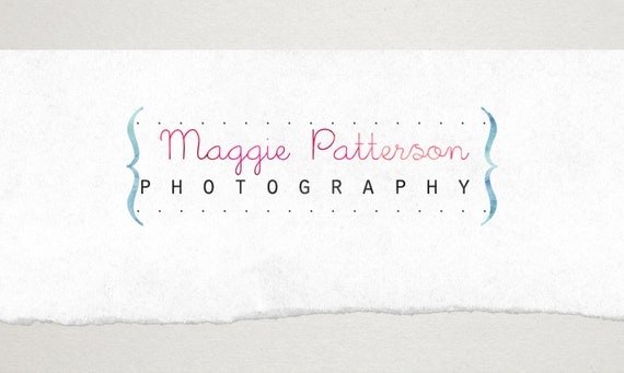 Premade Logo // Logo Design // Business Logo //  Photography Logo // Watercolor Logo // Text Logo