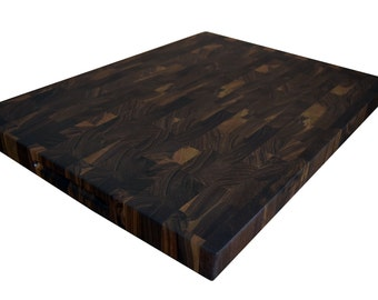 Walnut End Grain Cutting Board Large Butcher Block FREE USA SHIPPING JonesCuttingBoards