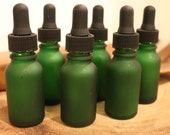 Dropper Bottles 1/2oz (Green Frosted) FREE SHIPPING