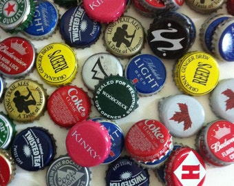 Assorted bottle caps