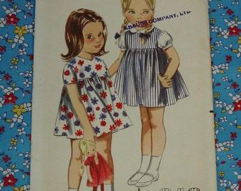 Vintage Pattern c.1960's Butterick No.3453 Toddler Dress,Blouse,Jumper, Sz.2, Uncut