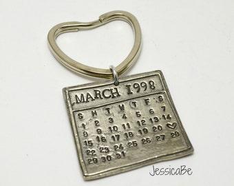 Calendar Key Chain Personalized Calendar